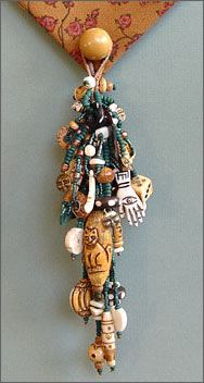 Beaded Treasure Tassel by Robin Atkins, bead artist