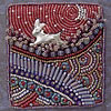 Rabbit, from a handmade artist's book by Robin Atkins, bead artist